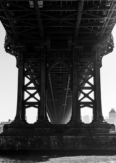 New York City Architecture Black And White Bridge Manhattan Bridge No People