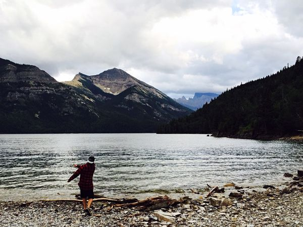 Canadian Rockies  Skipping Rocks Traveling EyeEm Nature Lover Calm Before The Storm WatertonLakeNationalPark