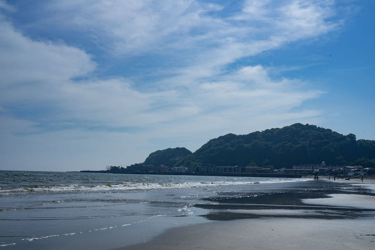 Japan Beach Beauty Beauty In Nature Cloud - Sky Day Enoshima Land Mountain Nature No People Outdoors Place Relaxation Sand Scenics - Nature Sea Sky Tranquil Scene Tranquility Tree Water 江の島