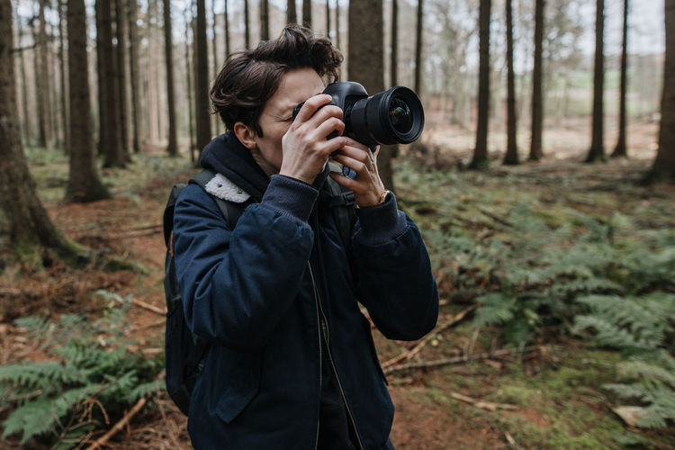 Man photographing