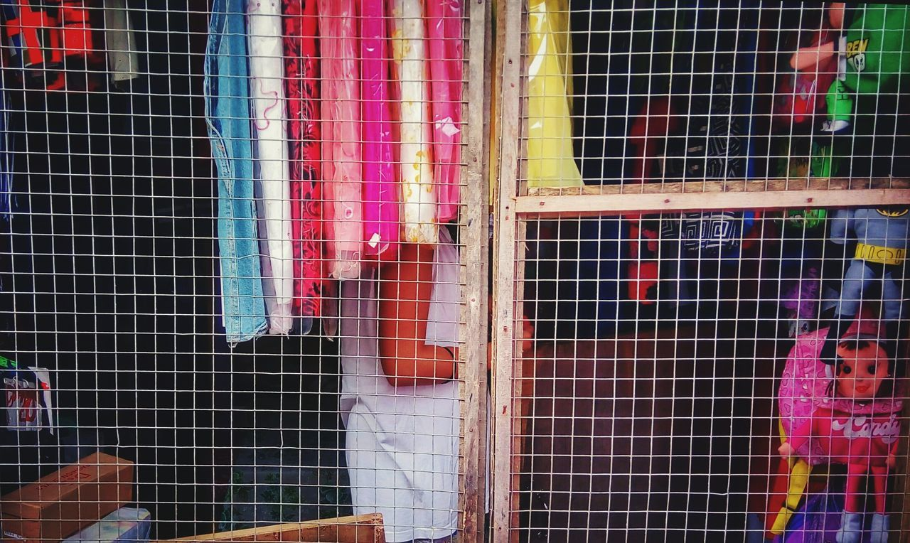 for sale, retail, multi colored, window, birdcage, day, variation, cage, market, choice, hanging, no people, drying, indoors, close-up