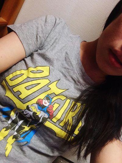 Hello World Japan Style Japanese Girl Thats Me  Self Portrait Selfie ♡ Japan Roomwear Batgirl T-shirt Uniqlo