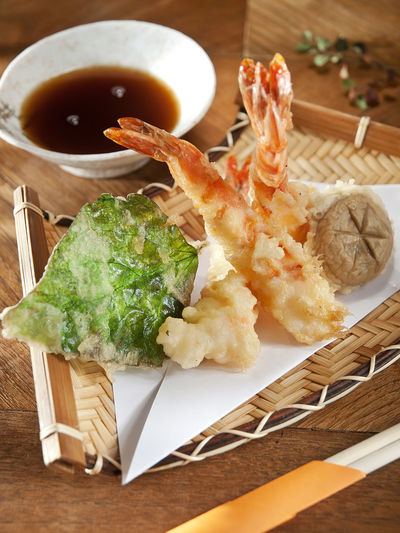 Tempura shrimps, asian food