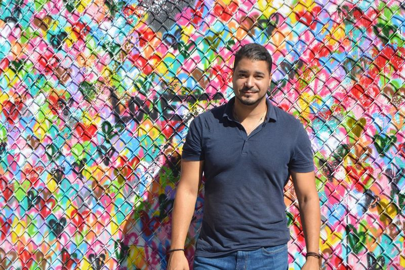 Love Hearts Heartshape Hektad Wall - Building Feature Art And Craft Front View Colorful Young Adult Multi Colored Enjoy Enjoy Life Enjoying Life Enjoying The View Enjoying The Moment Enjoying The Sights Capture The Moment Places I've Been East Village NYC Photography ThatsMe Today's Hot Look Portrait Street Portrait NYC