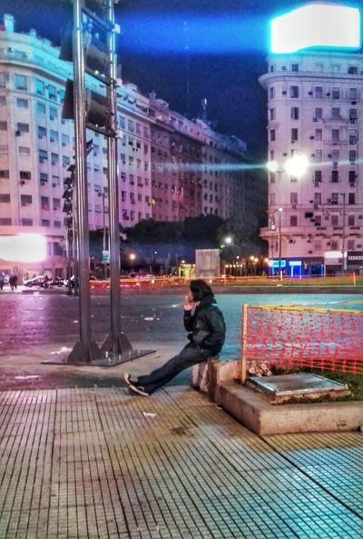 First Eyeem Photo Stranger Smoking Cigarette Magic City Night Colourful Colour Lights