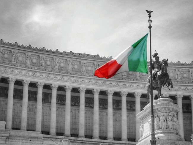 Italy Festa Della Repubblica Italiana Italia Taking Photos Blackandwhite Black & White Bianco E Nero Flag Flags In The Wind  Colors Flag Colors Canonphotography