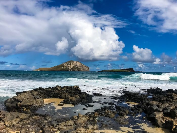 Rabbit Island Oahu Hawaii Life Hawaii Sacret Pool Healing Tidepools Makapuu Rabbit Island Sea Sky Cloud - Sky Nature Beauty In Nature Scenics Rock - Object No People Horizon Over Water Blue Beach Water Tranquil Scene Outdoors Tranquility Day