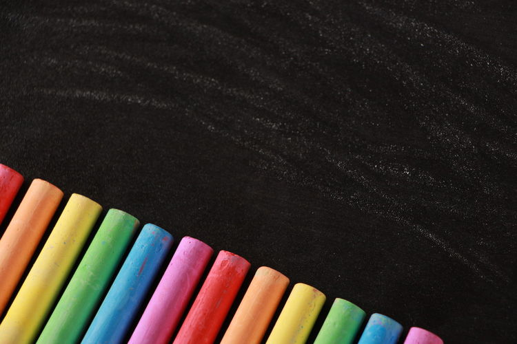 Close-Up Of Colorful Chalk