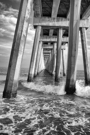 Architectural Column Architecture Beach Bridge - Man Made Structure Built Structure Pier Sea Water