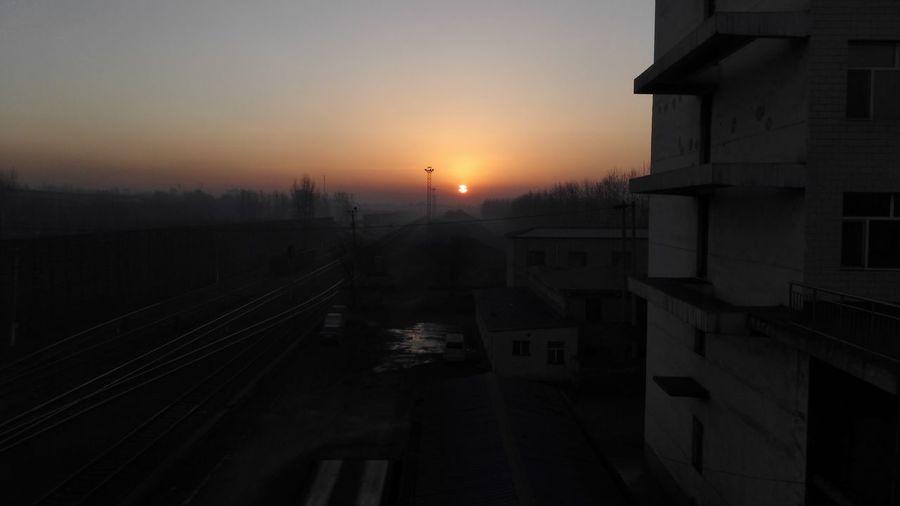 这是今早的日出 Sunrise