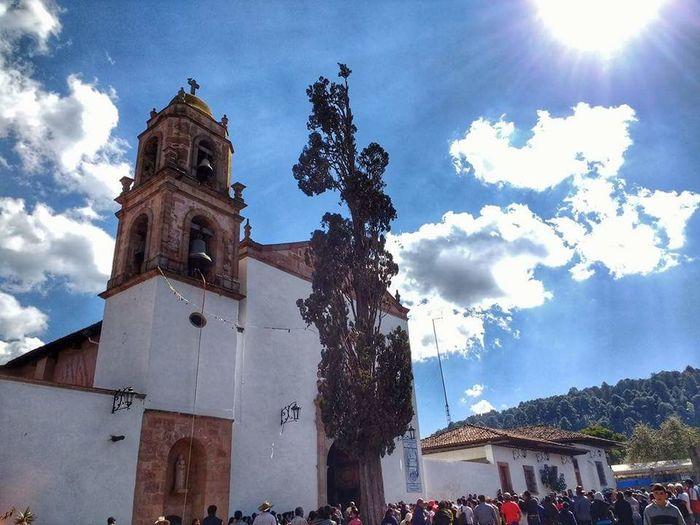 Travel Destinations Architecture Sky CieloDeMexico ViveMexico Mexico Santa Clara Del Cobre Michoacan, México Architecture TemploViejo