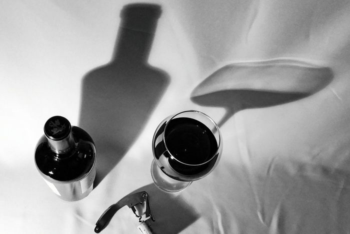 Shadow Table Puerto Rico Caribbean Life Winetasting Wineglass Indoors  Alcohol Drink Bottle Corkscrew Wine Wine Bottle Wine Cork Top View Good Times Wine Not