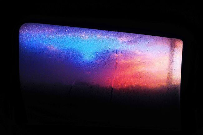 Indoors  No People Multi Colored Close-up Sky Sunset Day Purple Blue Pink Car 07:00am