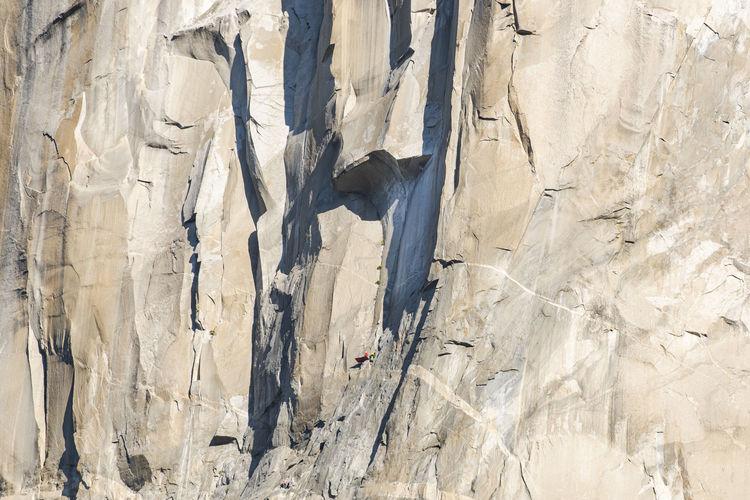 Full frame shot of snow covered rock