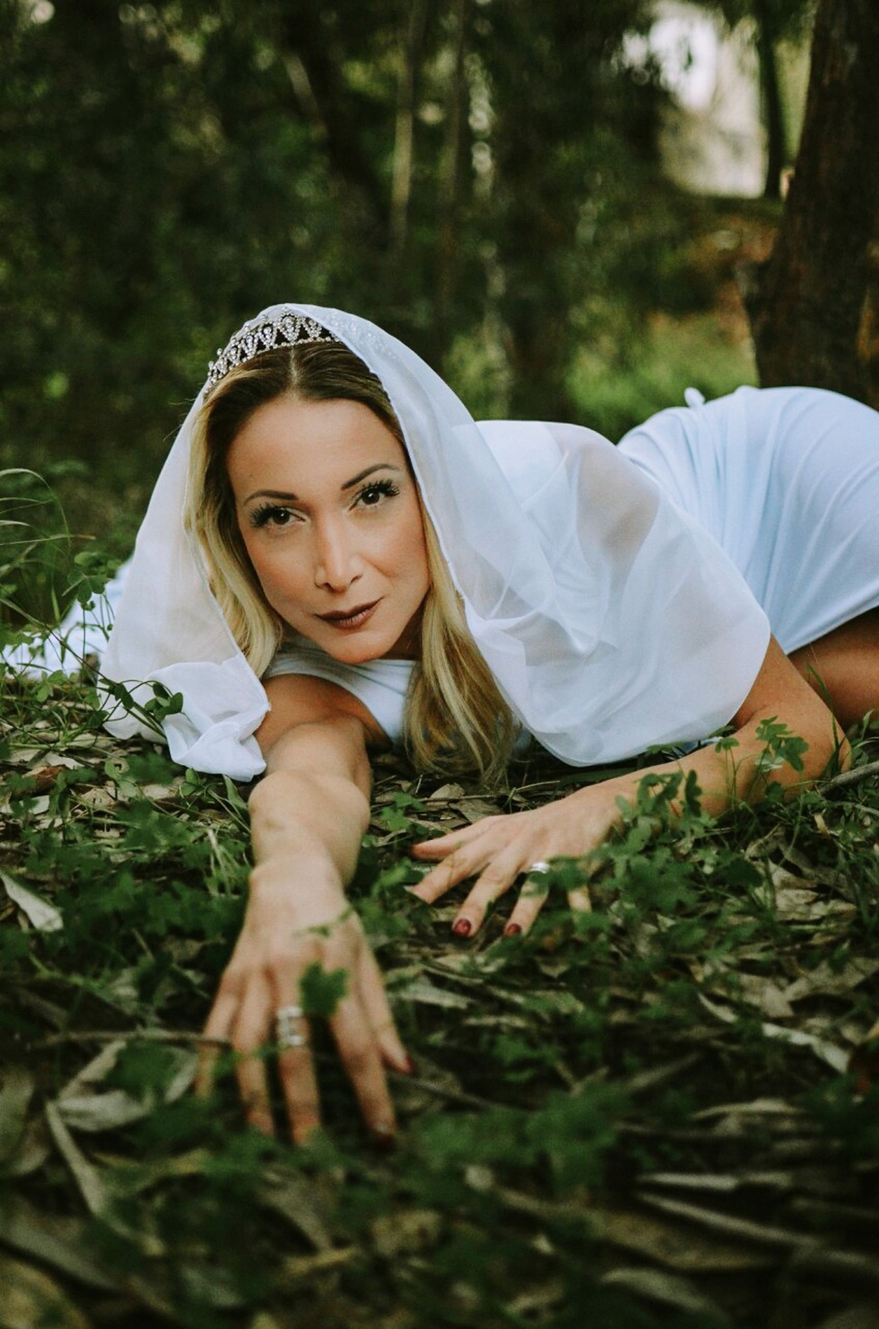 portrait, looking at camera, young adult, only women, one young woman only, one woman only, adults only, smiling, confidence, one person, young women, adult, lying down, people, ethereal, women, outdoors, happiness, beautiful woman, beauty, grass, day, nature
