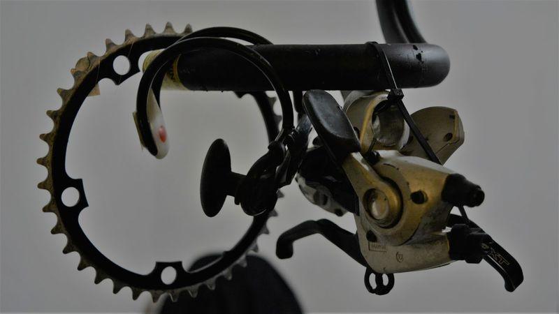 NBF Napoli Bike Festival Bicycle Bike Chain Design Indoors  Metal No People Simplicity Single Object