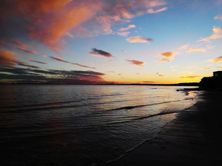 Scotlandbeach fife Lower Largo Darkness To Light Sunset