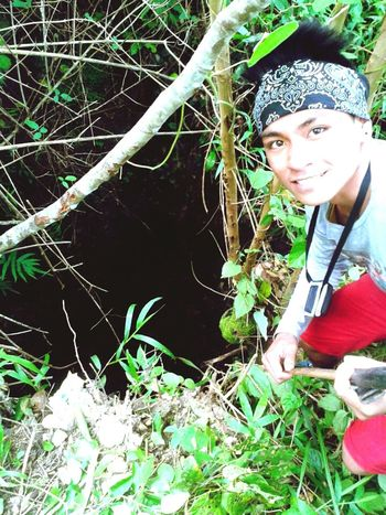 Mt.Pasngao Undergrownd Cave, Looking At Camera People One Person Day Only Men Grass Nature Exploration Adventure Sky Tree One Young Man Only Nature First Eyeem Photo One Man Only Young Adult Outdoors Water Portrait Adults Only Men Tree Adult