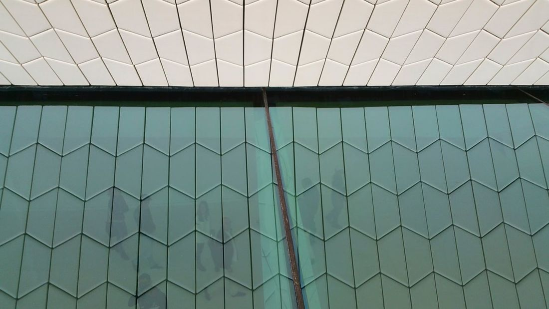 the new museum of art architecture any technology in Lisbon / Belém Architectural Feature Architecture Glass - Material Pattern Repetition Tiles Modern Architecture Lisbonlovers Maat Museum Incidental People