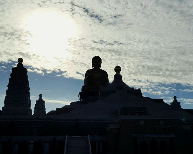 Architecture Religion Statue Built Structure Outdoors No People Day Silhouette Buddha Taiwan
