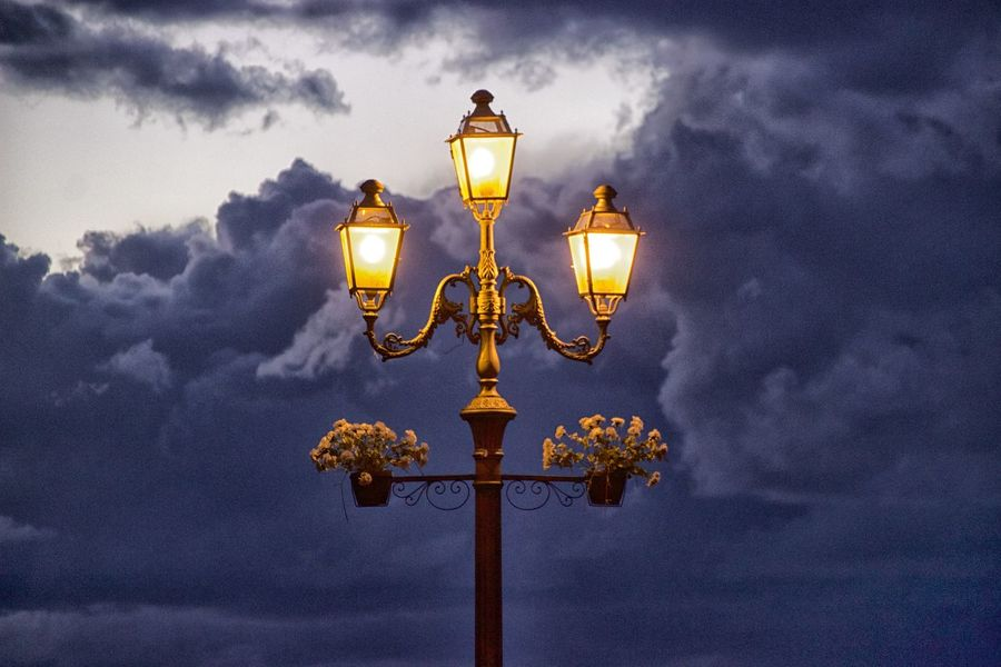 Cloud - Sky Day Illuminated Lighting Equipment Low Angle View Nature No People Outdoors Sky Street Light Pizzo Calabro