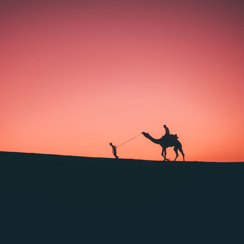 MAKTUB.....it's written. Rajasthantourismofficial Rajasthan Sunset Silhouette Tones Jaisalmer Minimal Camel Desert Sand Sand Dune