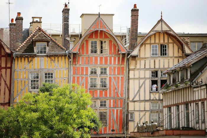 Colorful House Colorful House Leaning Fullframe Architecture Troyes France MedievalTown City Streetphotography Colors Monument
