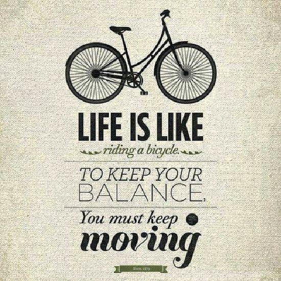 الحياة كالدراجة .. أذا أردت أن تبقى متوازنا عليك أن تستمر بالحركة .. !! .. حكمة حقيقة مجتمع Fact reality life wisdom