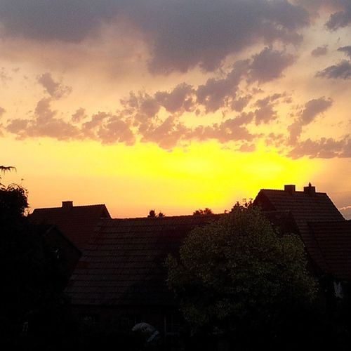 awesome Sunset in my hometown Holdorf
