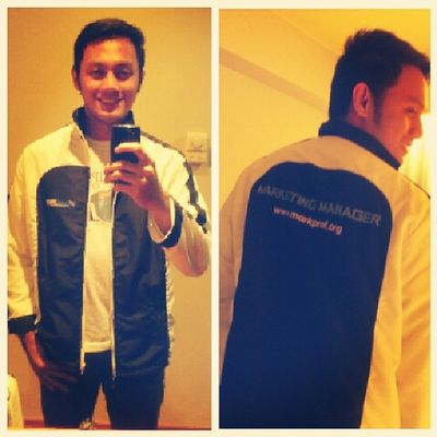 Wearing MarkProf jacket. Thanks @MarkProfTop25 for this souvenir jacket. :) Markprof Thanks @josiahgo and DingSalvador ..
