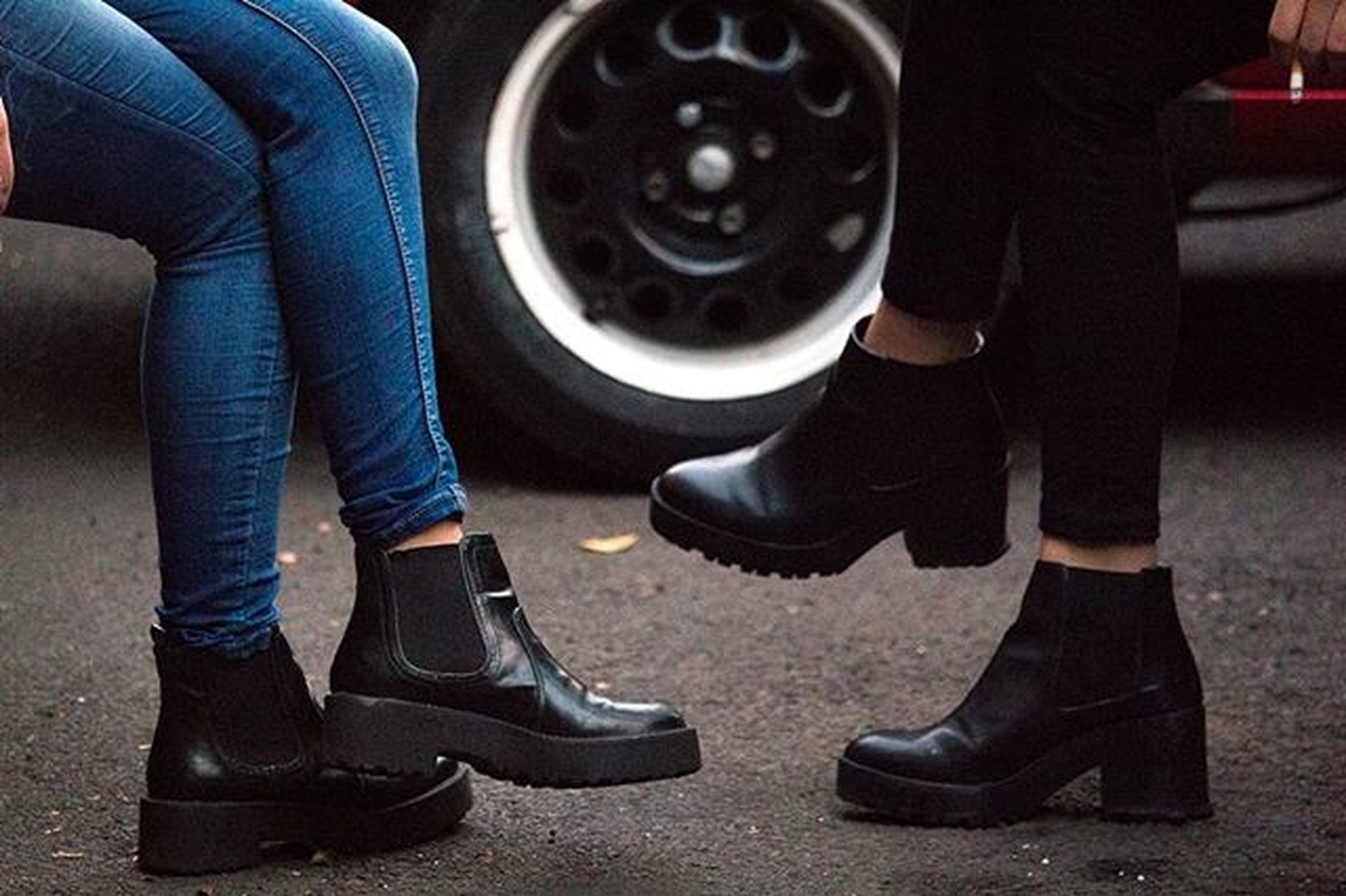 low section, person, shoe, jeans, lifestyles, footwear, high angle view, men, standing, sitting, human foot, leisure activity, casual clothing, transportation, fashion, canvas shoe, part of