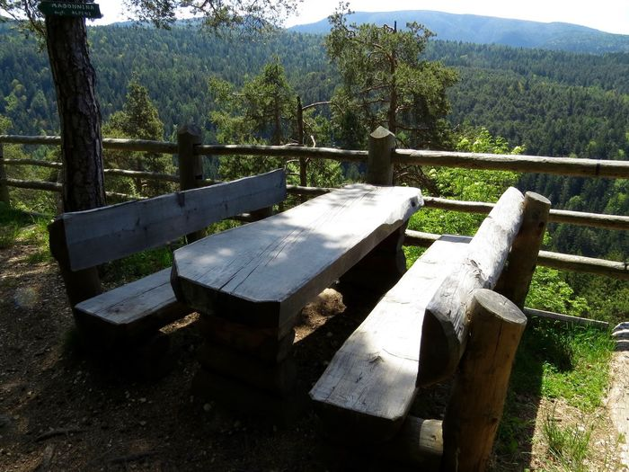 Beauty In Nature Enjoying Nature Landscape_photography No People Outdoors Resting Place Scenics Sunny Day Table And Bench Tranquil Scene Tranquility View Wood Wooden Material