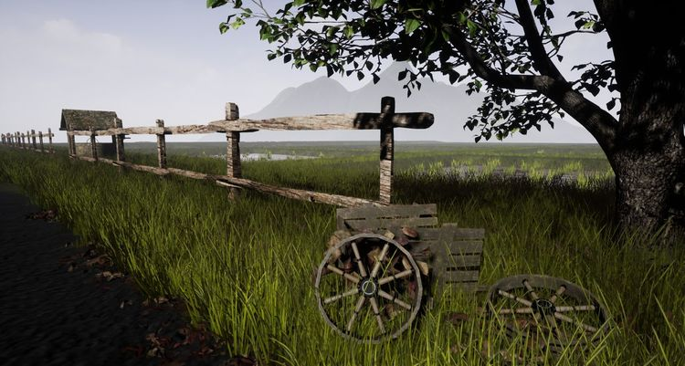 Indonesian Landscape in 3d Agriculture Rural Scene Outdoors Field Grass Nature Day Tree No People Landscape Scenics Sky 3D Drawing Unreal 3drender 3D👓 3D Photo 3d Rendering 3D Art Street Tree