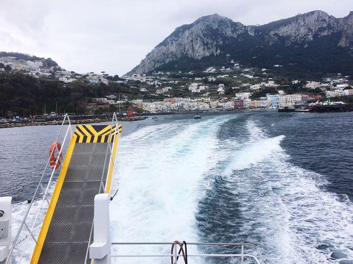 Seascape Sea Ship Mountain Water Day Nature Sky Transportation Architecture Railing Mode Of Transportation