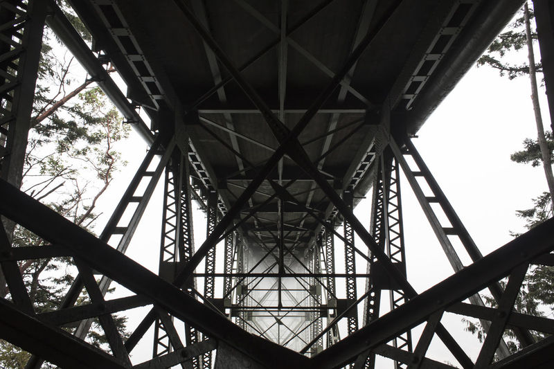 Built Structure Architecture Low Angle View Metal Connection Bridge No People Bridge - Man Made Structure Diminishing Perspective Underneath Directly Below Steel