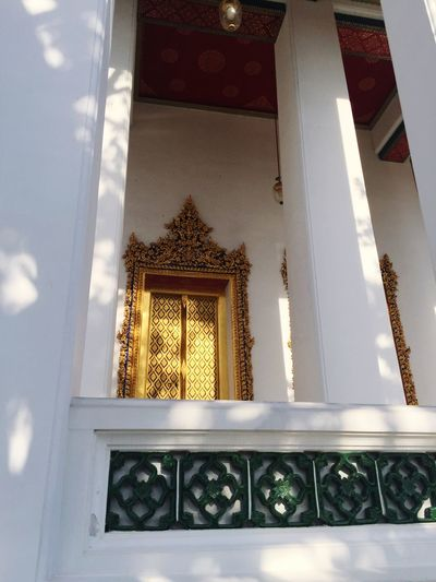 Thailand Architecture No People Built Structure Low Angle View Day Bangkok Thailand Bangkok Place Of Worship Peace And Quiet Worship Peace Spiritual Religion Temple Golden Door Bhudism The Week On EyeEm