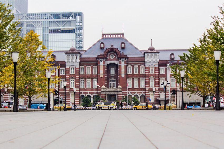 Tokyo Station Tokyo,Japan Tokyo Station Fall Autumn Cars Building Exterior Station