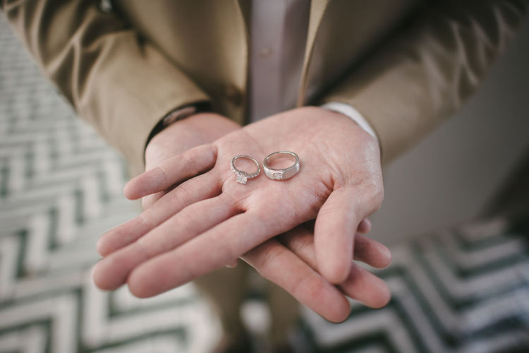 Human Hand Hand Human Body Part Jewelry Ring Midsection Adult Holding Close-up Focus On Foreground Men Finger Married Wedding Photography Wedding Day Wedding Ceremony Wedding Rings Couple - Relationship Lover Valentine Gift Give Love Proposal Of Marriage Valentine's Day