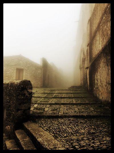 Erice, Sicilia,paesaggio, Castello Peterber75 Fog Weather Mist Architecture Day Outdoors No People Nature Sky