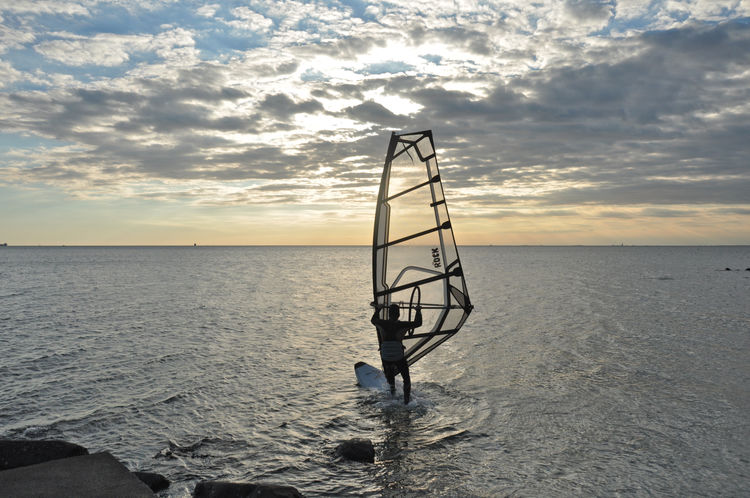 windsurfer at sunset in Trieste Cloud - Sky Holiday Horizon Over Water Outdoors Sea Sea Landscape Sea Sport Sunset Trieste Water Windsurfer Summertime Travel Pictures