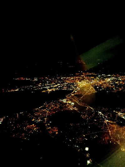 Belfast Belfastcity From The Plane Window Cityscapes City Lights City Lights At Night Belfast Harbour Titanic Historical Place Harland&Wolff Belfast Lough 1000 Feet Up Britannic Iphone 6 Clear Sky