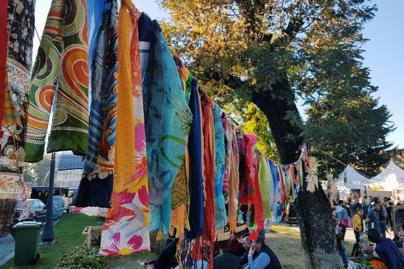 Colors of Telavi Multi Colored Tree Day Outdoors Hanging Growth People Nature Sky Sunnyday☀️ Georgia Streetphotography Autumn Colors Street Photography No People Autumn Flea Market Finds Flea Market Autumn Leaves Close-up Fleamarket City EyeEmNewHere Be. Ready. The Still Life Photographer - 2018 EyeEm Awards