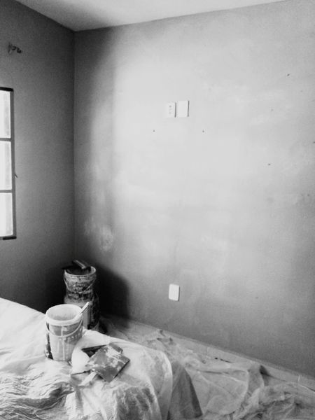 Working area EyeEmNewHere EyeEm Gallery Scenics Workplace Mexico No People Indoors  Workinprogress Leica Huawei P9 Painting Remodeling Close-up Indoors  Home Interior Table Bed Drinking Glass Drink Bedroom Pillow Day Home Showcase Interior