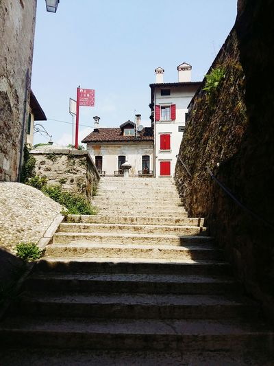 Almostthere Climbing Stairs Italian City Feltre in Belluno