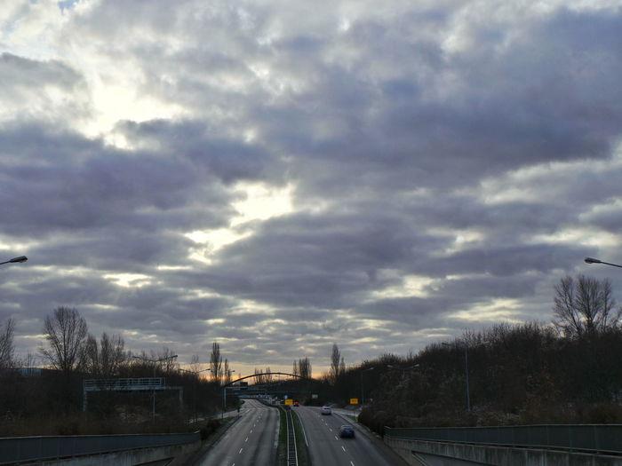Autobahn Autobahnbrücke Bewölkt Cloud - Sky Clouds Clouds And Sky Cloudscape Cloudy Freeway Highway Leipzig Motorway Sky Sky And Clouds Traffic Verkehr Wolken Wolkenhimmel