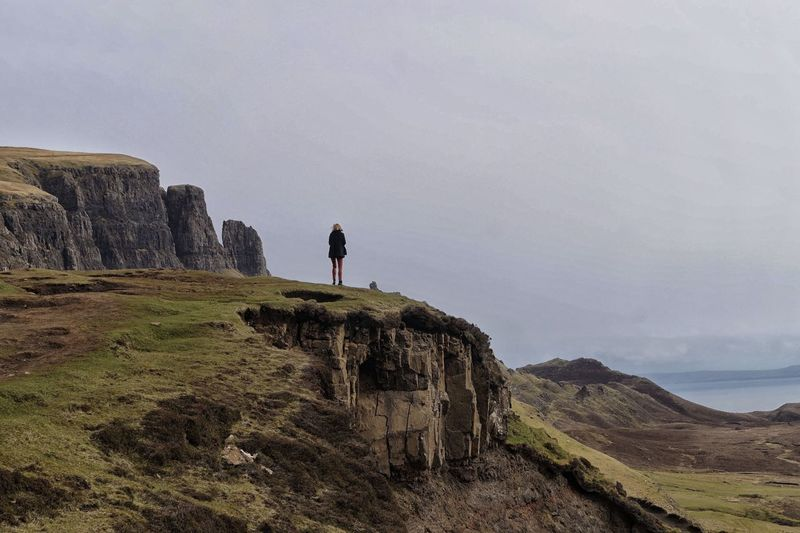 Cliff EyeEmNewHere Loneliness Lonelyplanet Mountain Nature Outdoors Rock Formation Scotland Standing The Secret Spaces