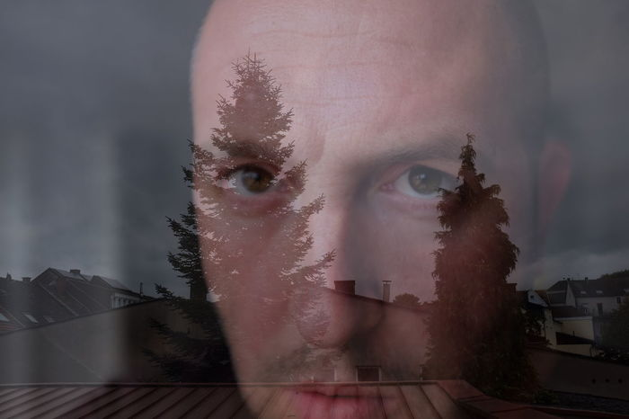 Creativity Double Exposure Look Looking Looking At Camera Looking Into The Future Lookingup Man Me Mental Message Nerd Nerds Nerdy Person Photography Portrait Self Portrait Selfie Think Thinking