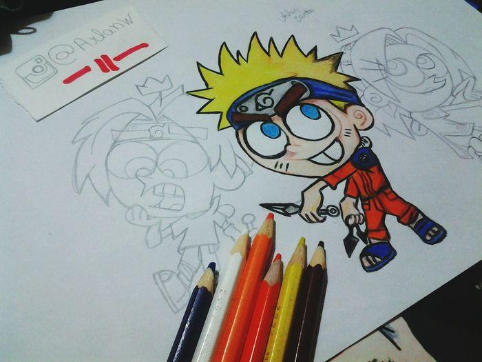 Começando a desenhar Naruto versao Padrinhosmagico Draw Drawing Desenho Anime