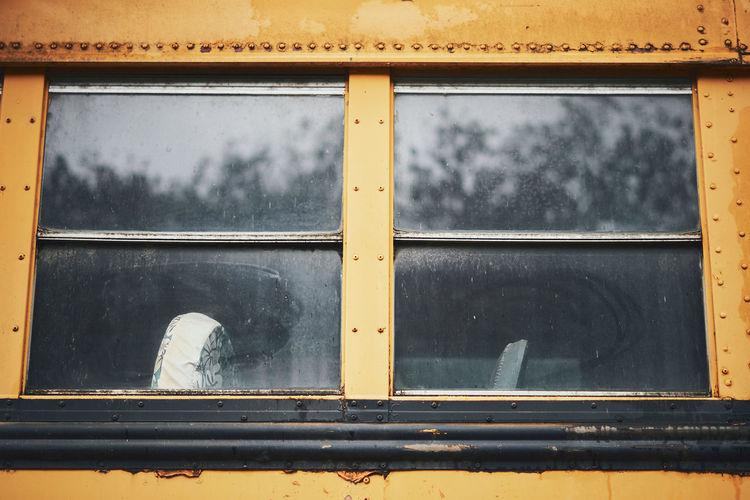 Full frame shot of yellow window