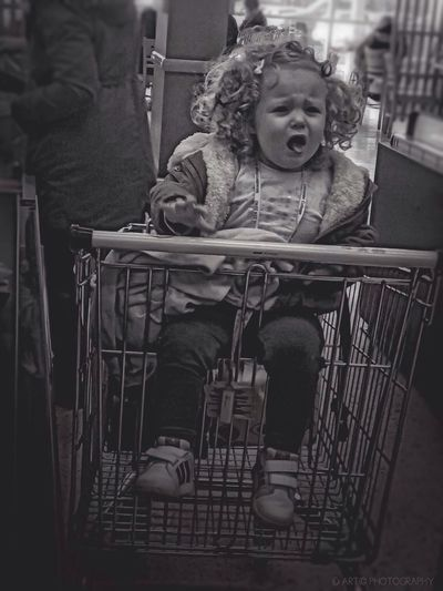 Oh dear...un-happy shopper! Monochrome Blackandwhite Black & White Shopping